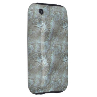 Green  Frosted Glass Tough iPhone 3 Cases