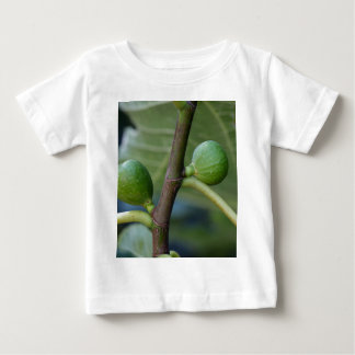 Green fruits of a common fig  tree baby T-Shirt
