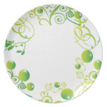 green fruits party plate