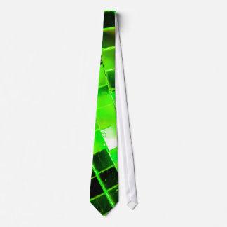 Green Funky Disco Ball Neck Tie