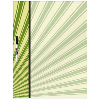 Green Funky Sun Rays Background Dry-Erase Board
