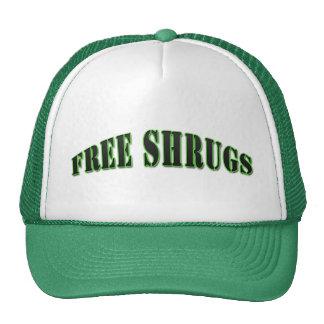 Green Funny Free shrugs Hat