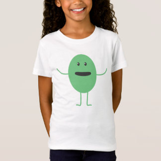 Green funny monster animated creature T-Shirt