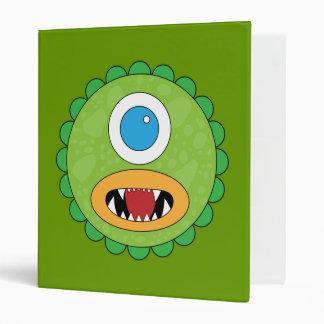Green funny monster vinyl binders