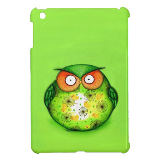 Green Funny Owl Case For The iPad Mini