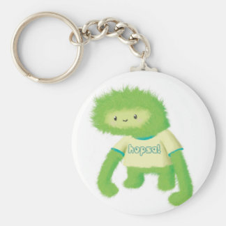 Green Furry Monster Keychains