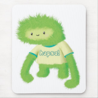 Green Furry Monster Mousepad