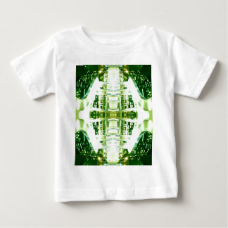Green Futuristic Light Groove Baby T-Shirt