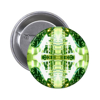 Green Futuristic Light Groove Buttons