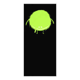 green fuzzy duzzle monster rack card template