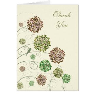 Green Gables Dahlia Wedding Thank You Note Card