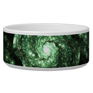 Green Galaxy Fractal Bowl