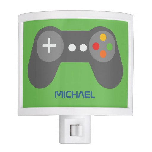 Green Game Console Controller Night Light