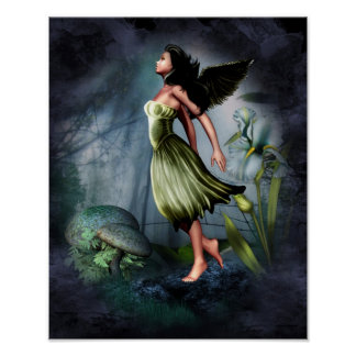 Green Garden Angel Print
