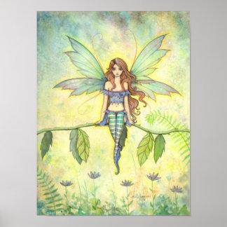 Green Garden Fairy Fantasy Art Print