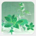 Green Garden Floral Stickers