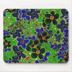 green garden flower bouquet mouse pad
