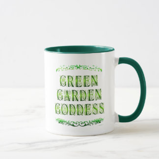 Green Garden Goddess Saying Coffee Mug