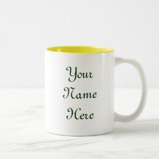 Green Garden Goddess Saying Two-Tone Coffee Mug