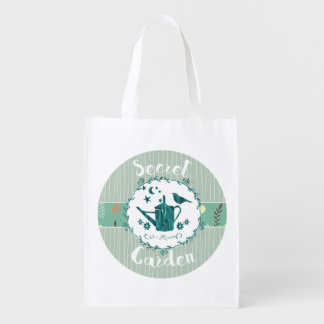 Green Garden Shopping Bag Bird Landscape Zen