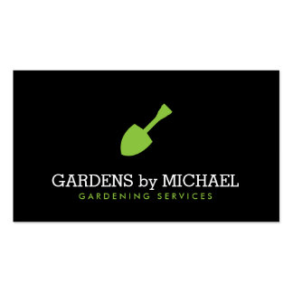 Green Garden Shovel Gardening Landscaping Services Double-Sided Standard Business Cards (Pack Of 100)