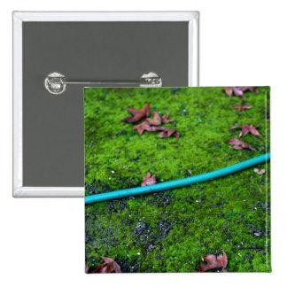 Green Garden Snake Hose Pinback Button