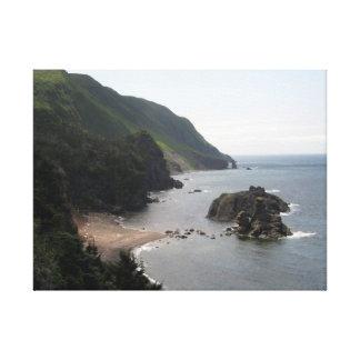Green Gardens Newfoundland Canada - Cliff view Canvas Print
