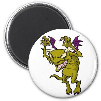 Green Gargoyle 2 Inch Round Magnet