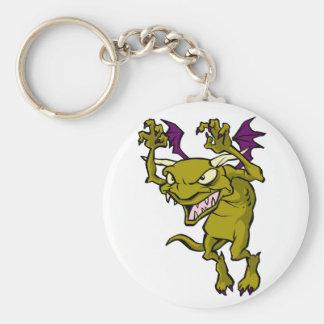 Green Gargoyle Basic Round Button Keychain