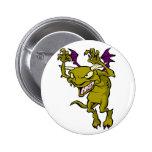 Green Gargoyle Buttons