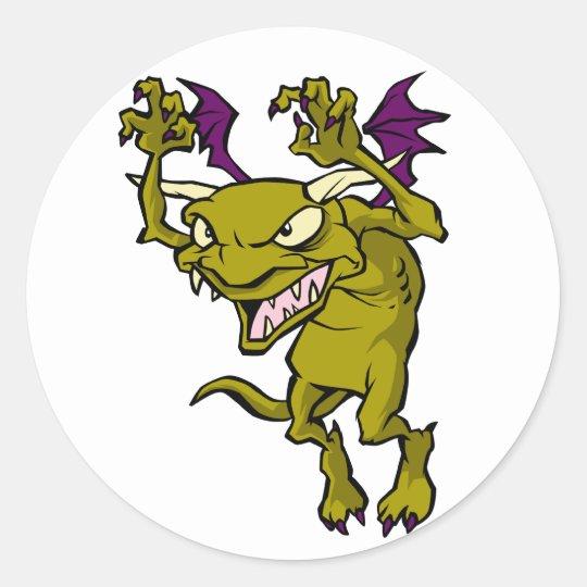 Green Gargoyle Classic Round Sticker
