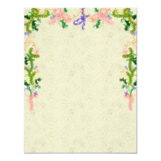 Green garland invitation card