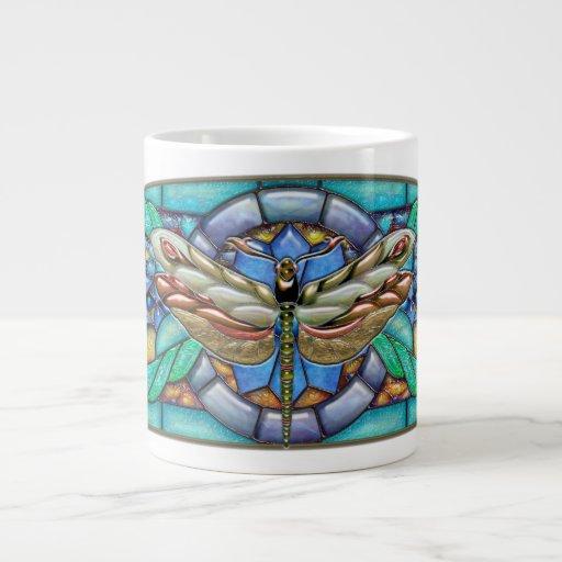 Green Gate Dragonfly - Jumbo Mug 20 Oz Large Ceramic Coffee Mug