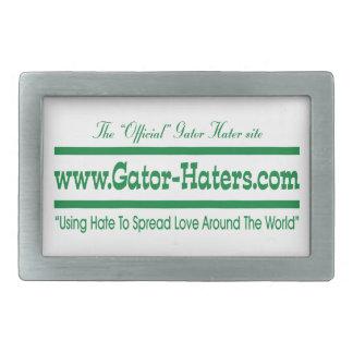 Green Gator Hater Banner Belt Buckle