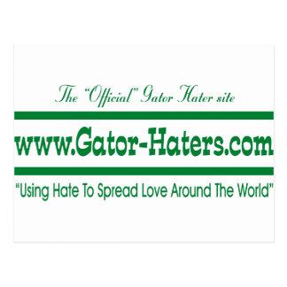 Green Gator Hater Banner Postcard