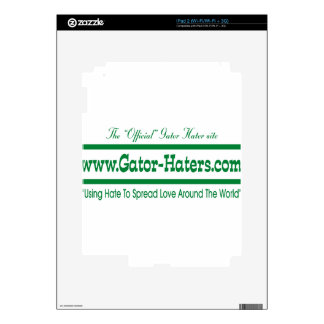 Green Gator Hater Banner Skins For iPad 2