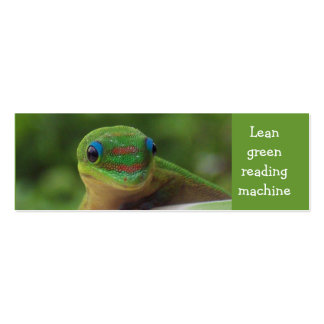 Green Gecko bookmark Double-Sided Mini Business Cards (Pack Of 20)