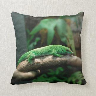 Green gecko in tree pillow