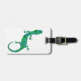 Green Gecko Luggage Tag
