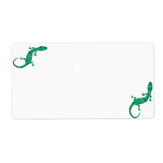 Green Gecko Shipping Label