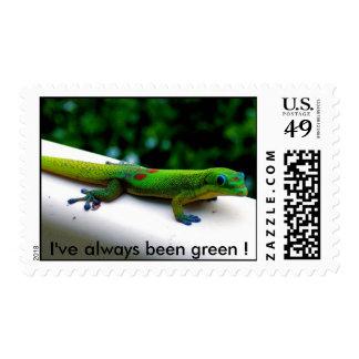 Green Geckos Postage Stamp