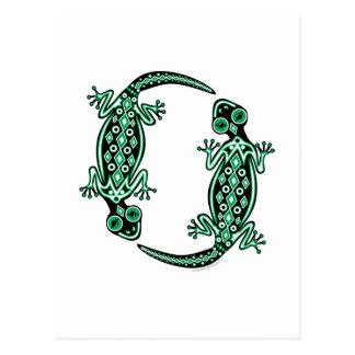 Green Geckos Totem Postcard