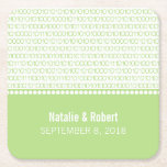 Green Geek Chic Binary Code Paper Coasters Square Paper Coaster
