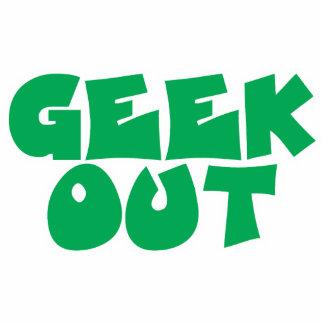 Green Geek Out Text Design Photo Sculpture Ornament