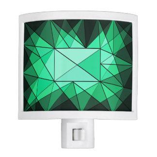 Green Gem Abstract Design Night Light