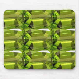 green gem stone mouse pad