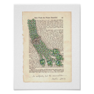 Green Gems Jewelry Watercolor Series Print