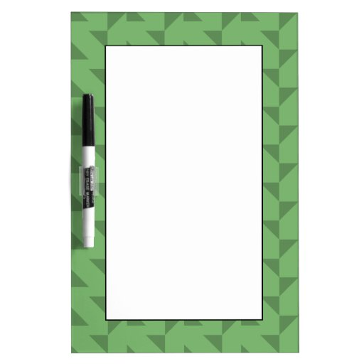 Green Geometric Abstract Pattern. Dry-Erase Whiteboard