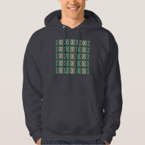 Green Geometric Abstract Pattern Hoodie