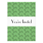 Green Geometric Abstract Pattern. Personalized Invitation